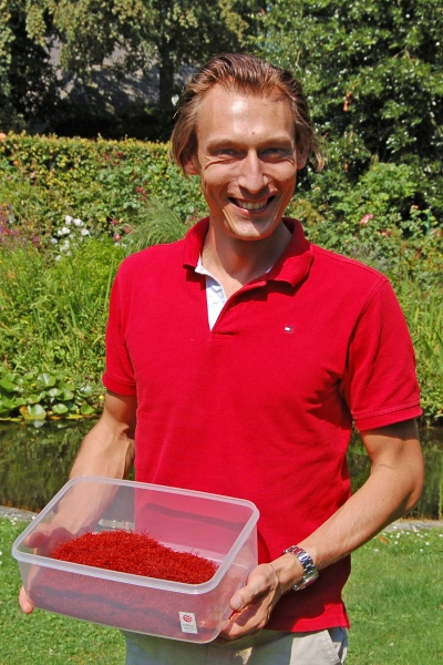 Safran- und Vanillehändler Christoph Handtke.