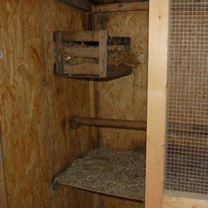Hühnerstall mit Nest